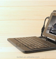 Leather Case with Micro USB Interface Keyboard for Q88 7 inch MID Tablet PC