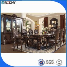 black and white 8 seaters glass dining table with stainless steel legs