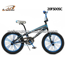 20 inch steel new bicycle bmx bike with 140H colorful spokes and leken brand