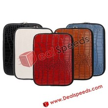 27*20cm Crocodile Pattern Universal Leather Bag for iPad2/the New iPad/iPad4 with Stand