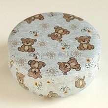 Drum shape round cake packaging metal box