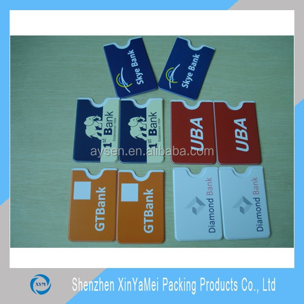 PVC Material and Business Card Use hard pvc card case holder