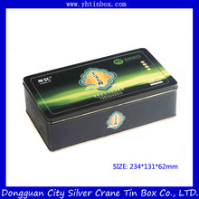 Wholsale Cookie Tin Box/Rectangular Biscuit Tin Cans / Fancy Tin Packaging