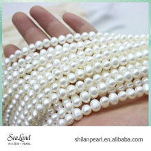 High quality 7-7.5mm AAA perfect potato loose natural pearl