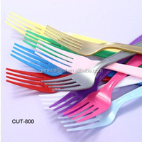 New PS Plastic Reusable Disposable Cutlery (Assorted Colors)