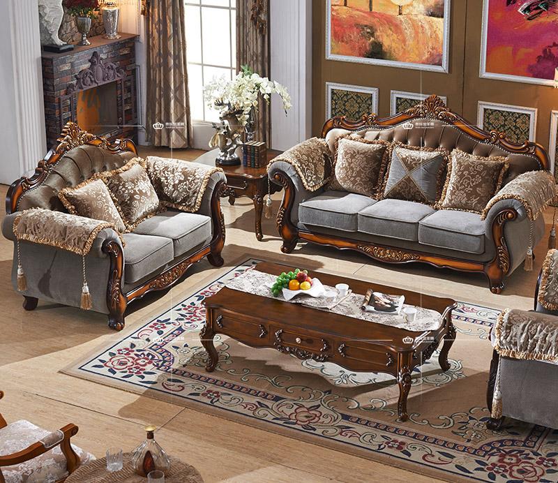Arab sofa dubai sofa furniture classic wooden sofa set for Latest wooden sofa set designs