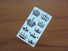 New product crown luxury water transfer body art temporary tattoo