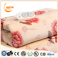 Washabled Polar Fleece Electic Heating Blanket for Double Person