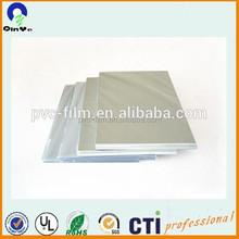free Laminate inkjet plastic a4 size white card pvc core film 0.3mm