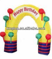 Happy birthday inflatable arch