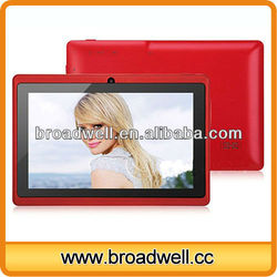 Fashion design Different color Allwinner A13 7 inch Android 4.0 super general tablet pc