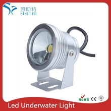 10W 12V LED Underwater Light Flood Lamp Waterproof IP65 Fountain Pond Landscape Lighting 1000LM White Flat Lens