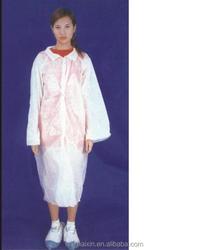 pvc disposable rain coat/ disposable rainwear with long sleeve