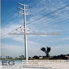 500kv poste de energía de acero