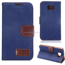Jeans leather china wholesale phone case wholesale leather mobile case for samsung galaxy S6