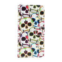 Skull Pattern Wallet Flip Leather Case for iPhone 6 Stand Case