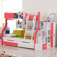 kids bed bunk slide modern children furniture