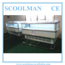 Vertical Curved Glass Commercial Deep Freezer