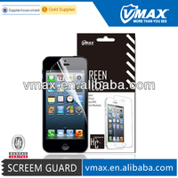 Hot Sell mobile phone accessories for iPhone 5g,screen protector oem/odm (High Clear)