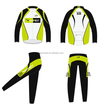 summer winter team custom design long sleeve cycling jersey & pant with sublimation print