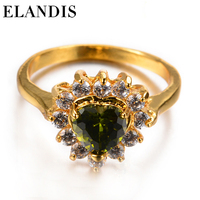 plated gold zircon ring with fashion diamond