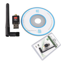 Mini USB 150Mbps Wireless WiFi Network Card 802.11n/g/b w/Antenna LAN Adapter