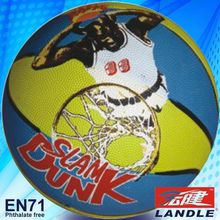 good new official size new style rubber made 8.5 inches rubber basketball