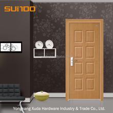 Modern desgin Bathroom PVC Wood Flush Door Price