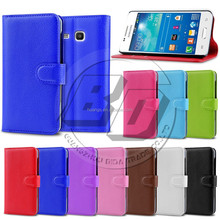 Hot selling PU leather case wallet stand with card slots mobile phone bags for Samsung Galaxy Trend 3 G3502