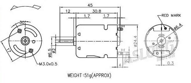 Top selling PK370PH-4743 9.6V Dc Motor