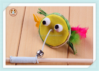 Pet supplies tease cats stick feathers make cat toys supplies environmental educational pet toys