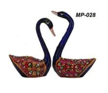 Exclusive Indian Metal Painting Swan Set Home Acessories Gift Item