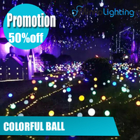 party decoration christmas reed light Grounding light 12V 1w RGB colorful ball on stock