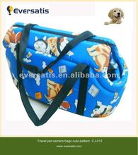 2012 warm soft fabric pattern loving dog bag