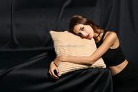 YR177 Customized size shear rabbit fur christmas pillow cover