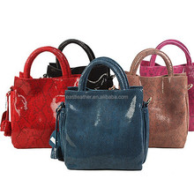 GL573 christmas discount sale offer snake leather womens tote bags
