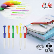 Hot selling Promotional colorful clip ballpoitn pen custom logo