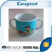 Craft Melamine Cup with two handle for kid