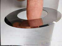 Paper cutting of circular blades cut the meat