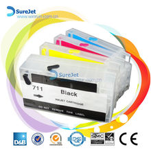 Manufacture for hp 711 refill ink cartridge with reset chip