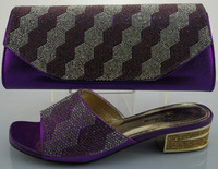 SB427 purple color EUR size 38/39/40/41/42 message us which size you want genuine leather italian matching shoes and bags