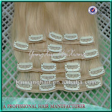 Direct Hair Factory Wholesale Private Label Unprocessed Tangle and Shedding Free virgin 30inch clip in one hair extension human