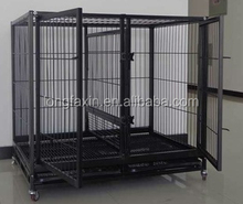 Metal folded wire dog cage Double dog cages kennel