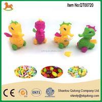 colorful pull back hippocampi shape promotional small candy toy