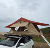 canvas fabric and aluminum frame truck roof top tent for camping