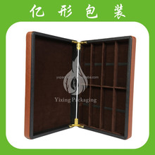 2015 Best selling Luxury pu leather gift wine box/case for glasses