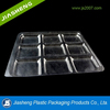 High transparency disposable plastic divided food trays