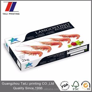 Pantone personalizzato stampa di carta impermeabile pacchetto della scatola di gamberetti