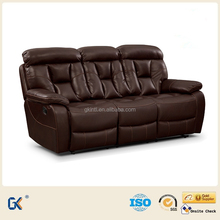 High quality modern leather air sectional recliner sofa set new designs 2015