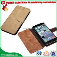 High Quality Retro SMART flip pu leather case for iphone 6 Can stand